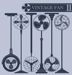 Vintage fan II vector image