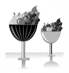 fruit bowl vector image