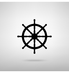 Ship wheel sign vector