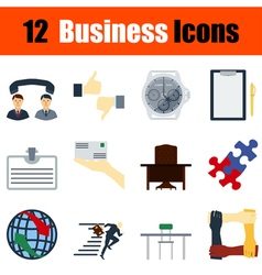 Flat design business icon set vector