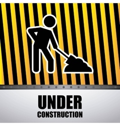 Worker with shovel isolated icon design vector