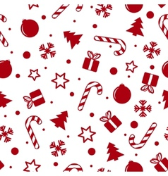 Christmas background white vector image vector image