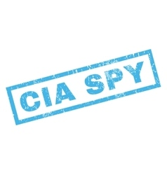Cia spy rubber stamp vector