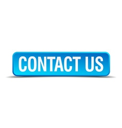 contact us blue 3d realistic square isolated vector image vector image