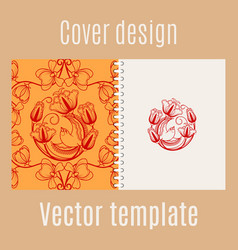 cover design with chinese pattern vector image vector image