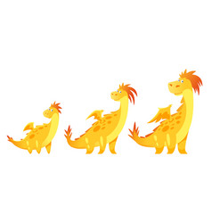 cute yellow dragon vector image vector image