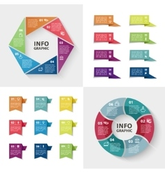 Ector infographics set collection of colorful vector