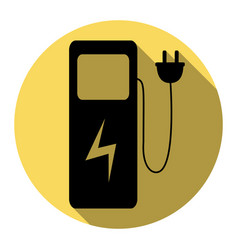 electric car charging station sign flat vector image