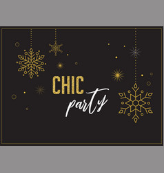 fireworks chic party invitation design vector image vector image