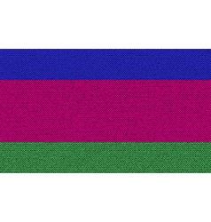 Flags kuban republic on denim texture vector
