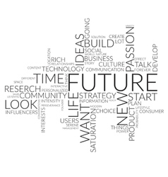 Future business concept in word tag cloud vector image