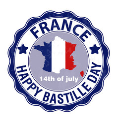 Happy bastille day july 14 viva france s vector