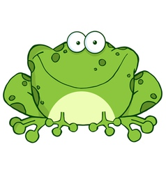 Happy Frog Cartoon Character vector image