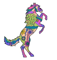 Horse reared vector