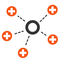 Medical connections flat icon vector