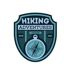 Nature hiking vintage isolated badge vector