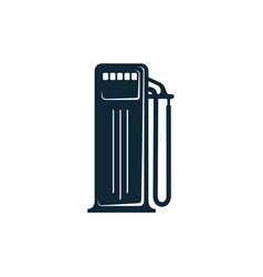 Oil fueling station simple flat icon vector