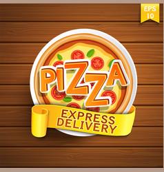Pizza design template vector