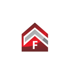 real estate initial f vector image vector image