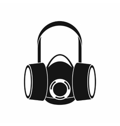 Respirator icon simple style vector