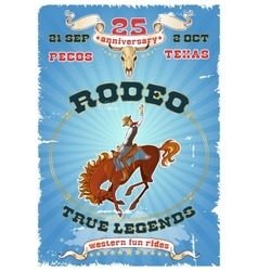 Rodeo Retro Poster vector image vector image