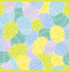 Seamless pattern with easter hand drawn eggs vector