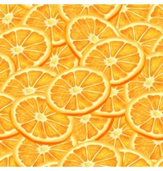 Sliced orange seamless background vector image vector image