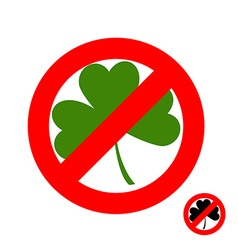 Stop clover it is forbidden to have green lever vector