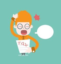 Tax bill cartoon business vector