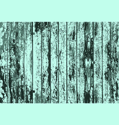 Texture of realistic turquoise old painted wooden vector