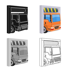 Truck entrance to the station single icon in vector