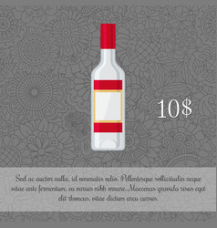 Vodka alcoholic beverage card template vector