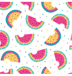 watermelon colorful seamless pattern vector image vector image