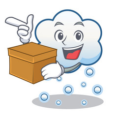 with box snow cloud character cartoon vector image