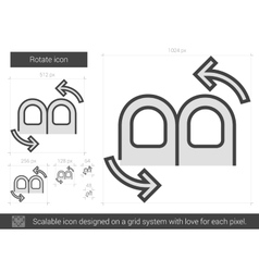 Rotate line icon vector