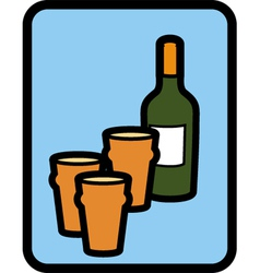 Pints of wine vector