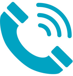 Business networking telephone icon vector