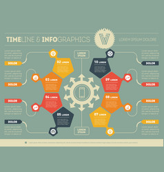 Web template of a circle infochart diagram or vector