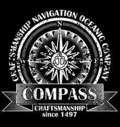Corporate logo with compass retro vector