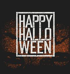 Happy halloween holiday logotype vector