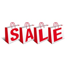 Shopping bags sale bags vector