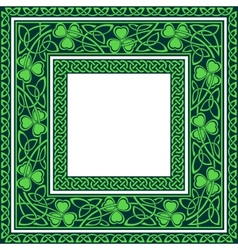 Editable celtic borders vector