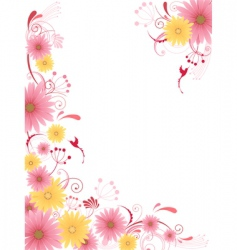 Floral background with ornamen vector