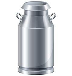 Milk in tank vector