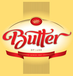 butter packaging design vector image