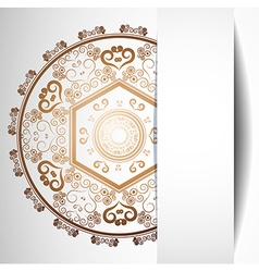Ornamental abstract background for design vector