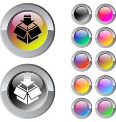 Package multicolor round button vector