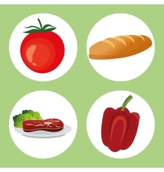 Healthy food design organic icon colorfull vector