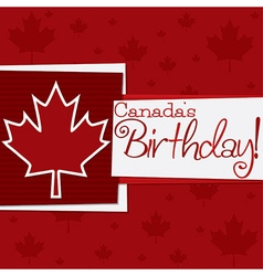 Funky canada day card in format vector