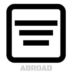Abroad conceptual graphic icon vector